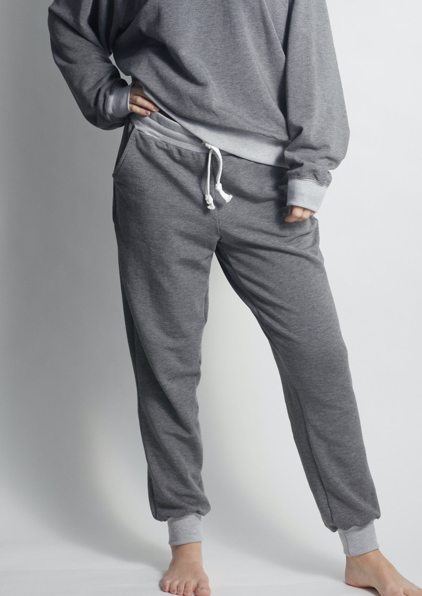Forever HEATHER GREY Sweatpants - Haven Collective