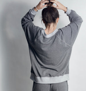 LOVE IS... WHITE on HEATHER GREY Sweatshirt - Haven Collective