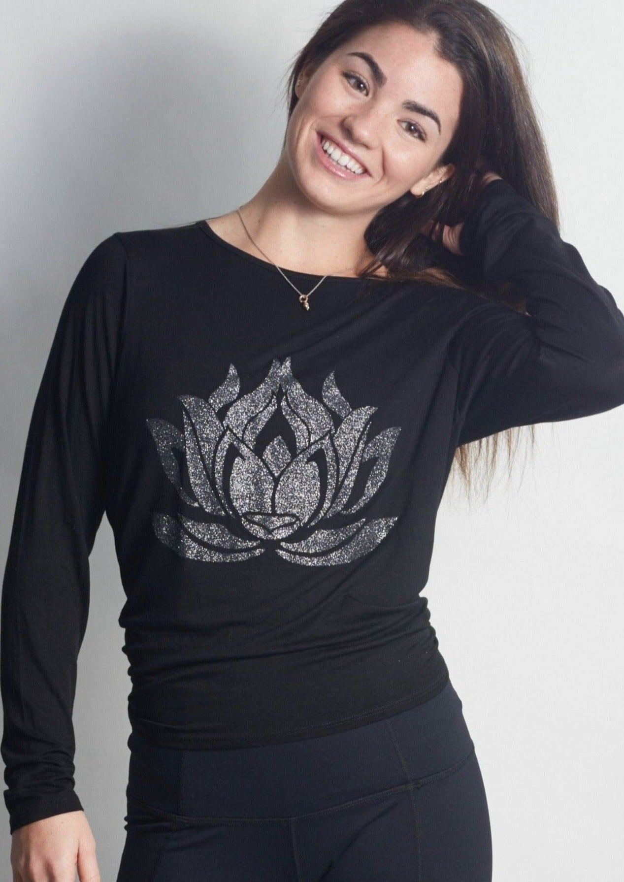 Sparkle LOTUS Black Camille Long Sleeve - Haven Collective