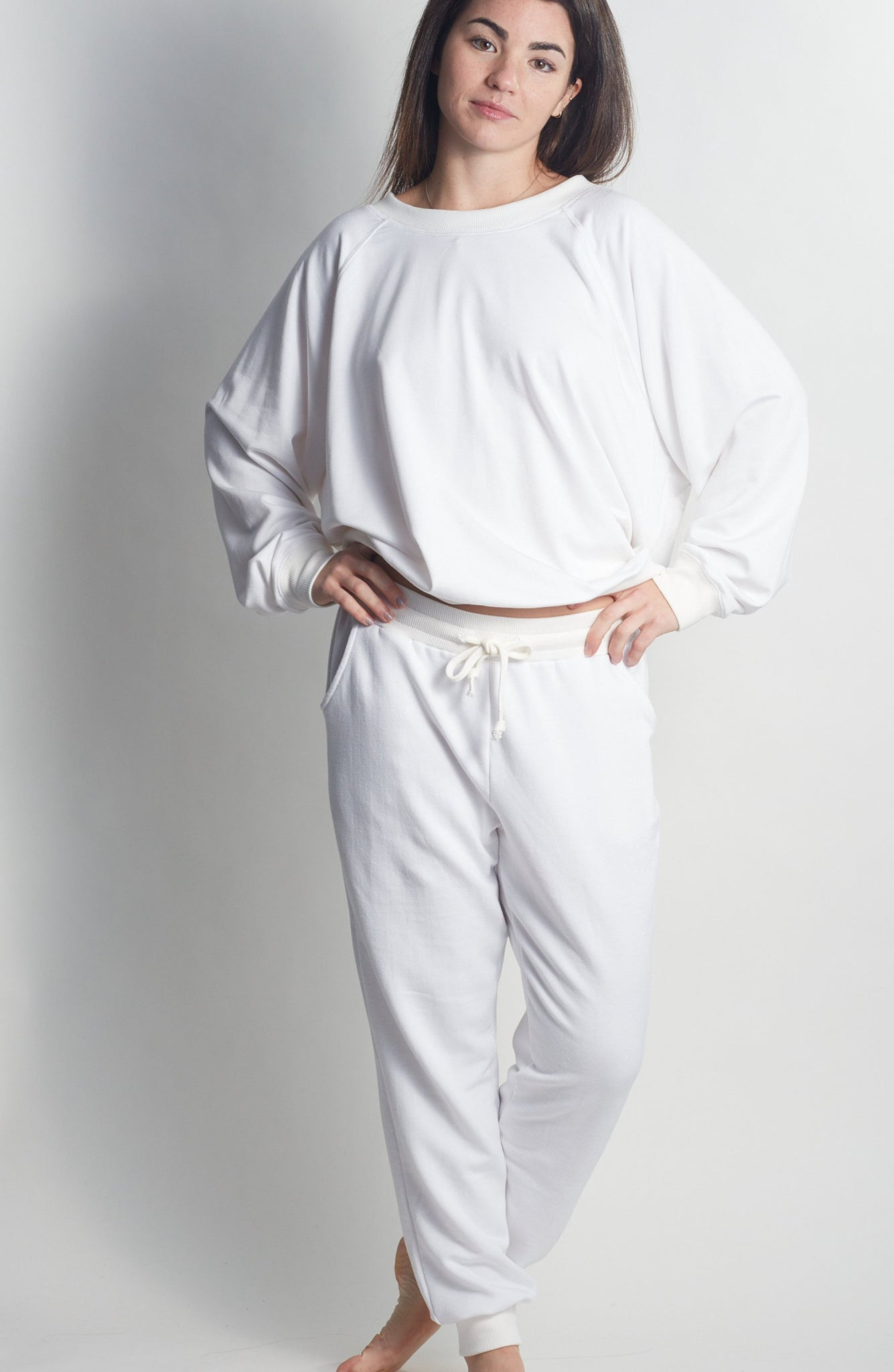 Forever ALL WHITE Sweatpants - Haven Collective