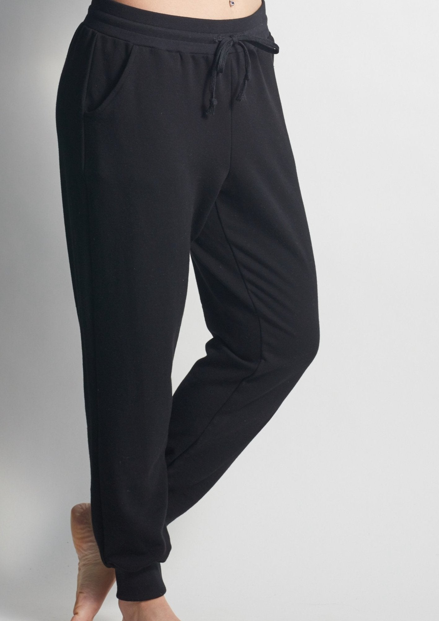 Forever DEEP BLACK Sweatpants - Haven Collective