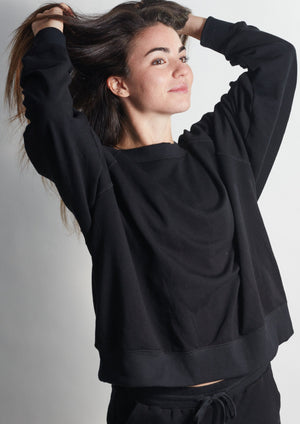 Forever DEEP BLACK Sweatshirt - Haven Collective