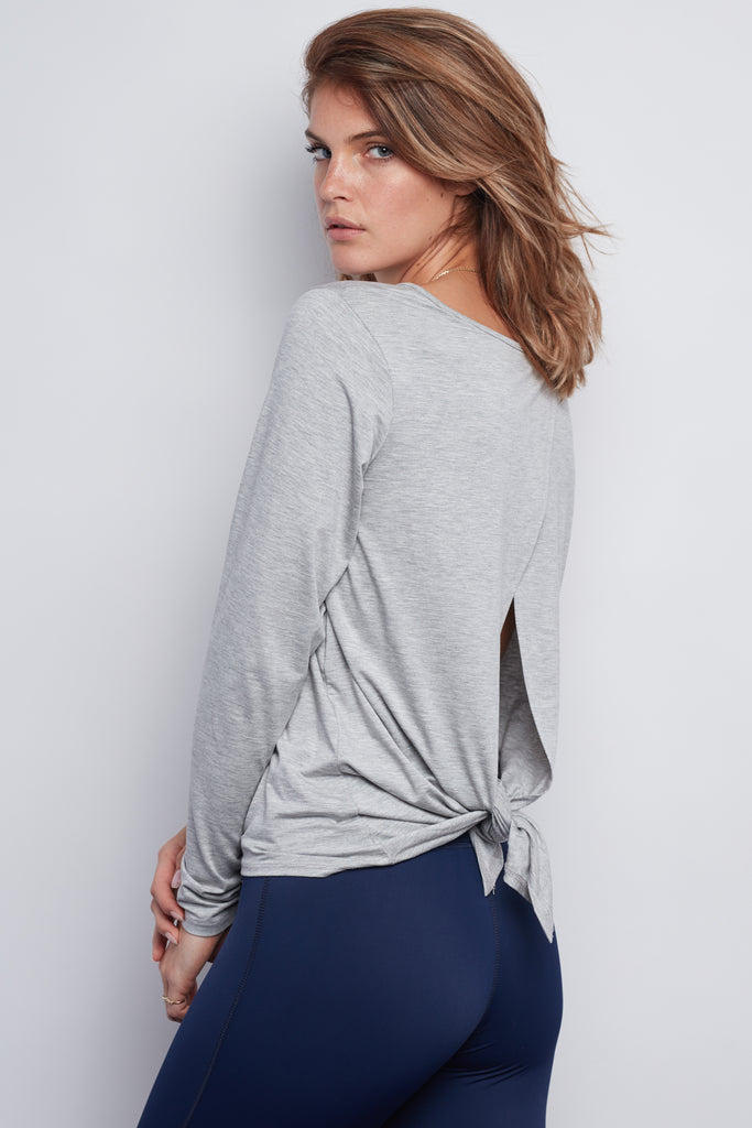 Heather Grey Camille Long Sleeve