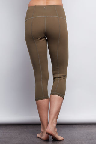 Army Contour Crop Legging