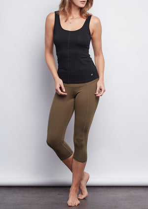 Army Contour Crop Legging - Haven Collective