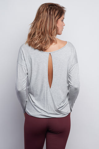 Heather Grey Chloe Open-Back