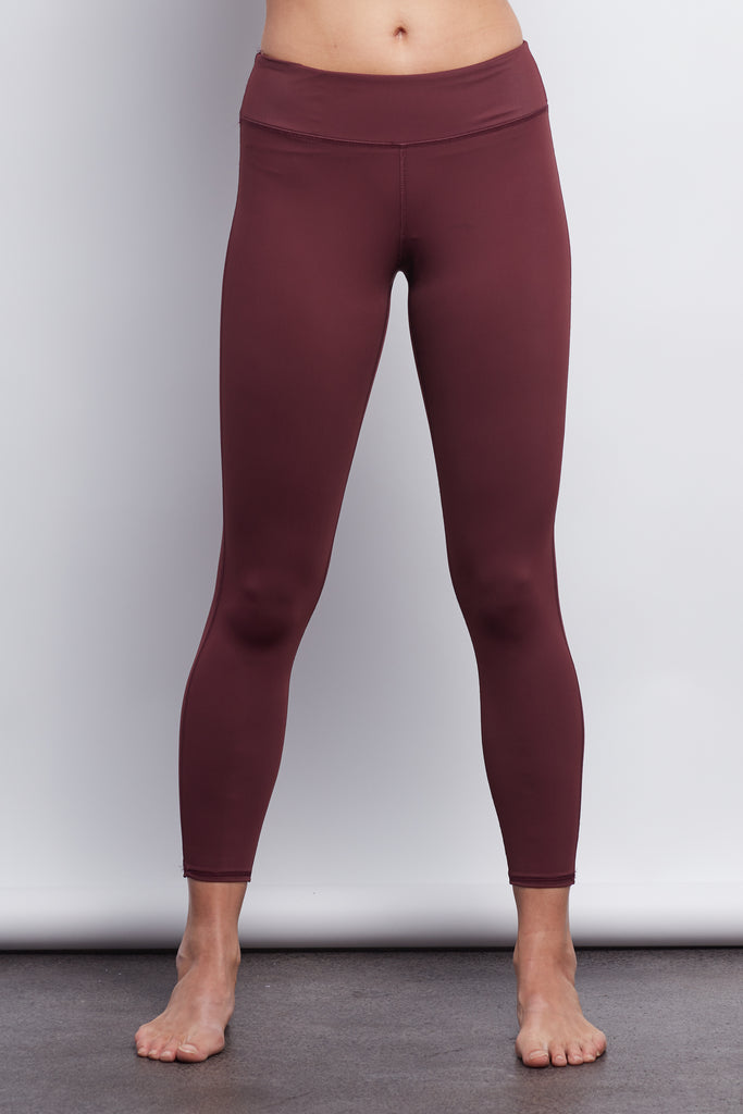 Burgundy Sculpt 7/8 Legging