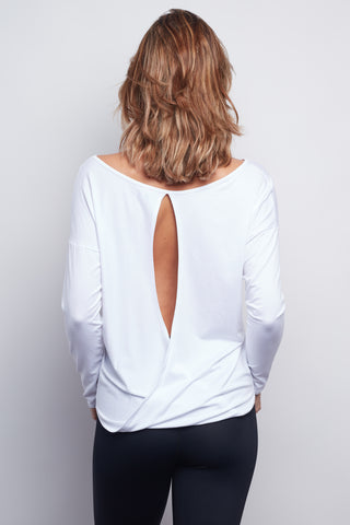 White Chloe Open-Back