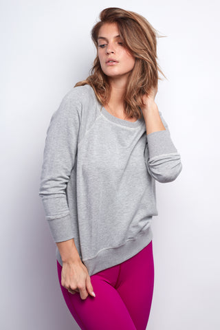 Heather Grey Boyfriend Sweatshirt - Haven Collective