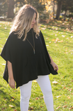 DEEP BLACK  French Terry Capelet