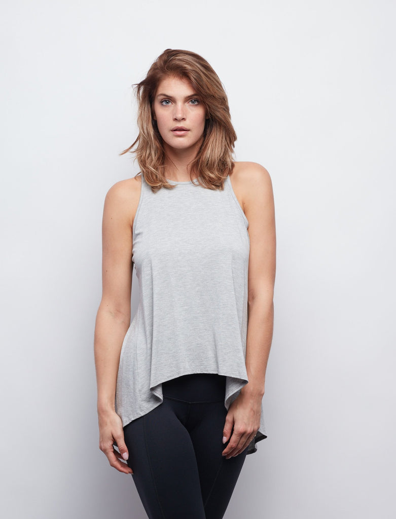 Heather Grey Camille Tie-Back Tank - Haven Collective