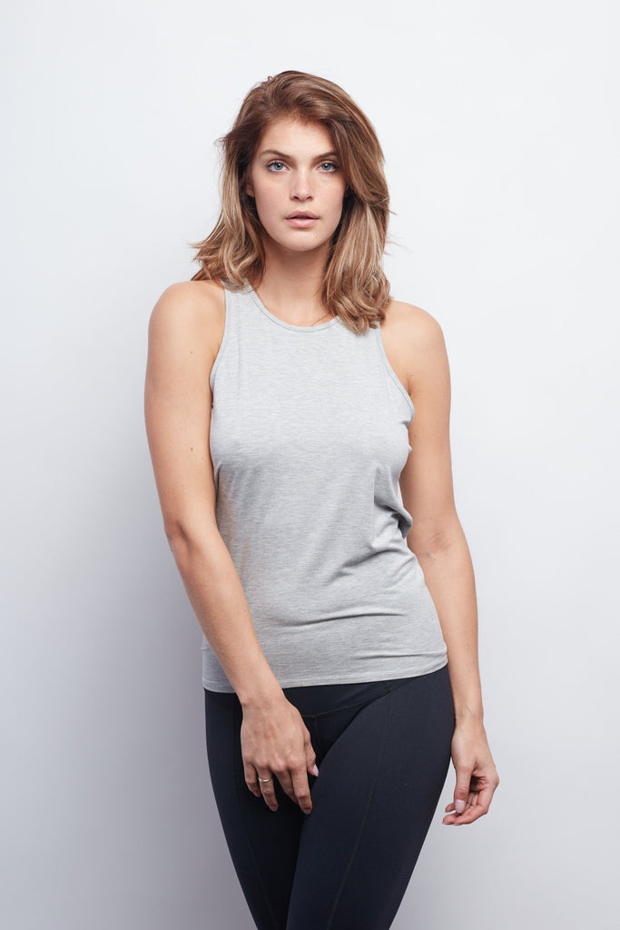Heather Grey Camille Tie-Back Tank
