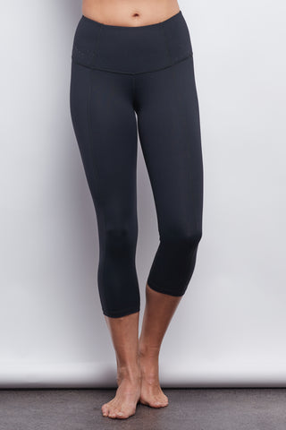 Black Contour Crop Legging - Plus Size