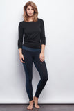Black/Navy Two-Tone Legging - Haven Collective