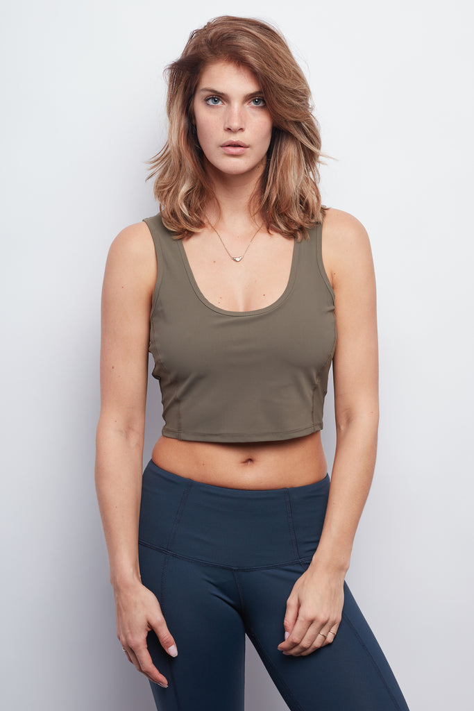 Army Contour Crop Top - Haven Collective