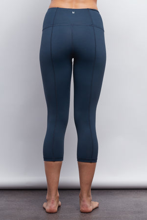 Navy Contour Crop Legging - Haven Collective