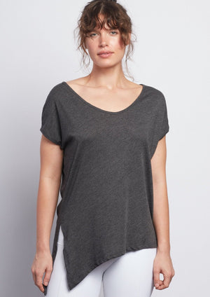 Anthracite Boxy Tee - Haven Collective