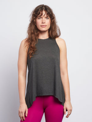 Anthracite Camille Tie-Back Tank - Haven Collective