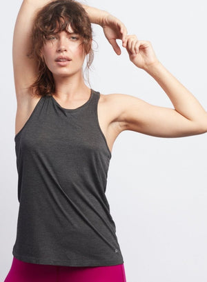 Anthracite Racerback Tank - Haven Collective