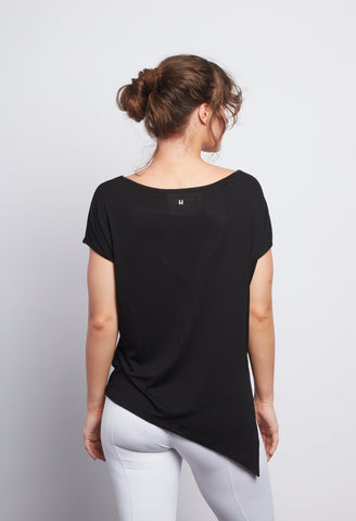 Black Boxy Tee - Haven Collective