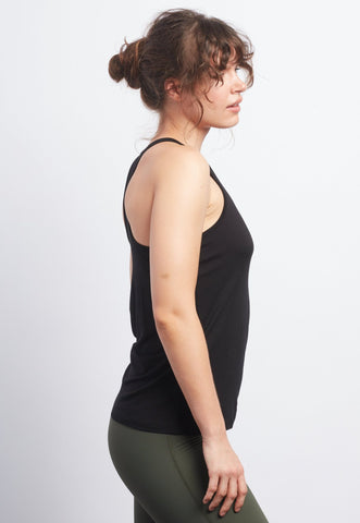 REBEL REBEL Black Racerback Tank - Haven Collective