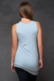Pale Blue Circle Tank [Bamboo] - Haven Collective