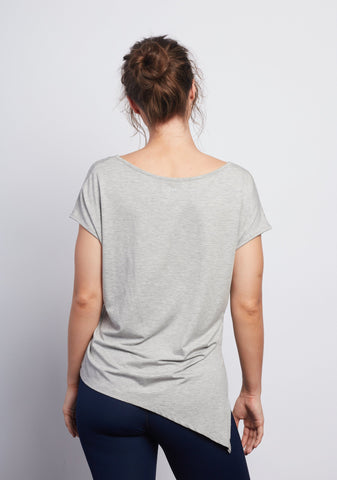 LOVE IS Heather Grey Boxy Tee - Haven Collective