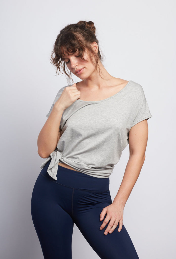 Heather Grey Boxy Tee - Haven Collective