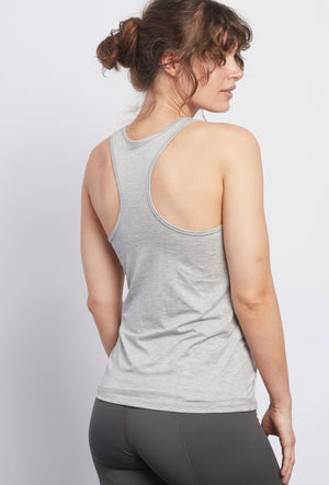 Sparkle LOTUS Heather Grey Racerback Tank - Haven Collective