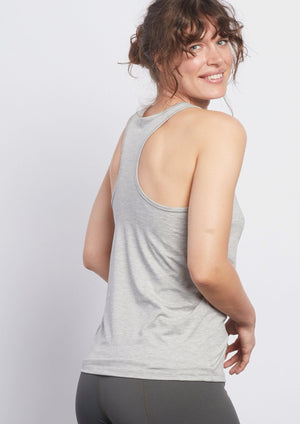 Heather Grey Racerback Tank - Haven Collective
