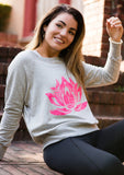 PINK LOTUS Heather Grey Boyfriend Sweatshirt - Haven Collective