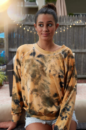Gold Tie Dye FOREVER Sweatshirt - Haven Collective
