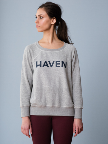 H-Series Heather Grey Boyfriend Sweatshirt [French Terry Fleece]
