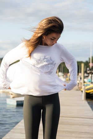 Sparkle LOTUS White Camille Long Sleeve - Haven Collective