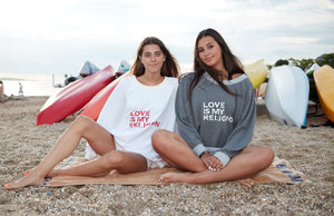 LOVE IS .... RED on WHITE Sweatshirt - Haven Collective