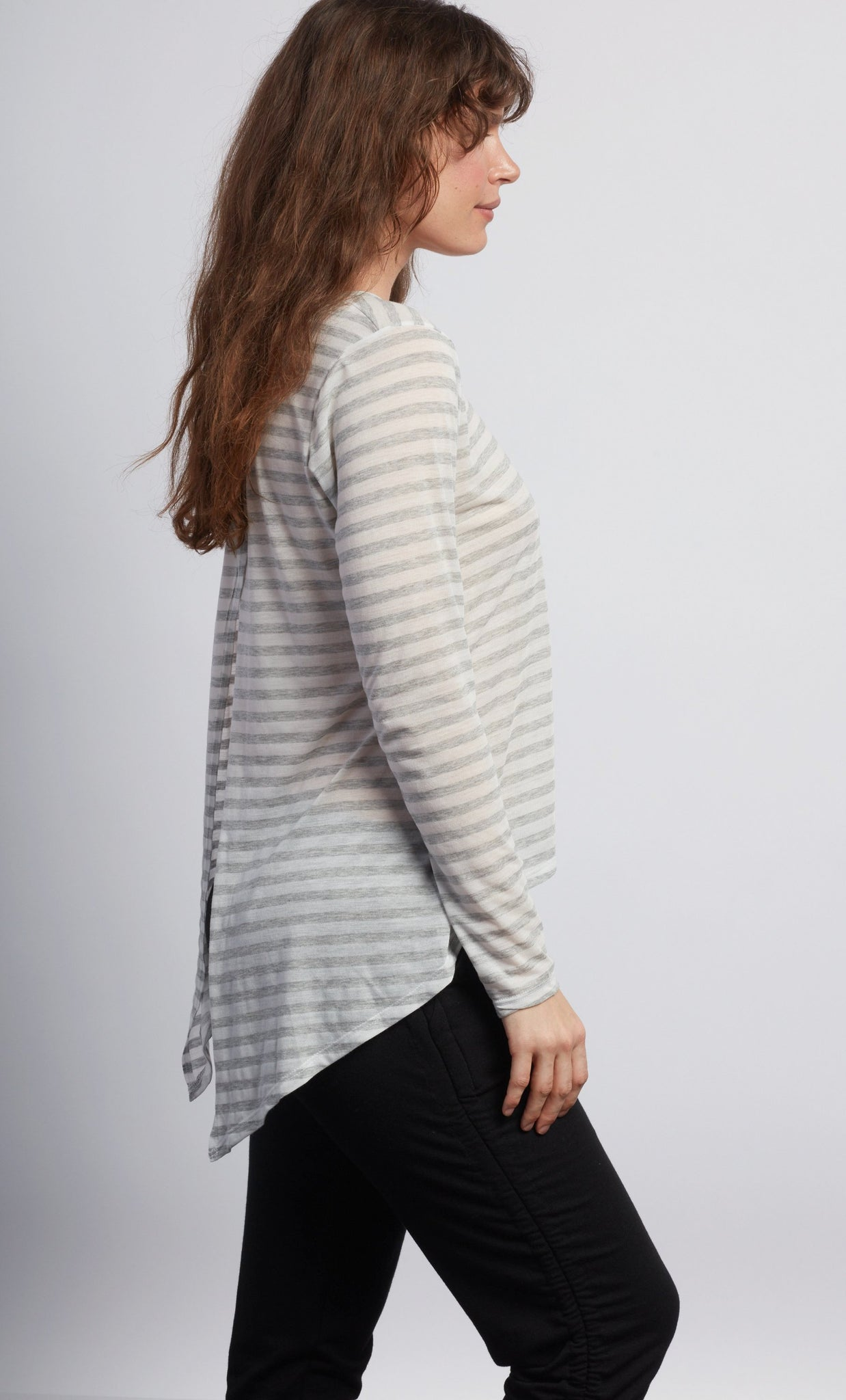 LOTUS Natural Grey Stripe Camille Long Sleeve - Haven Collective