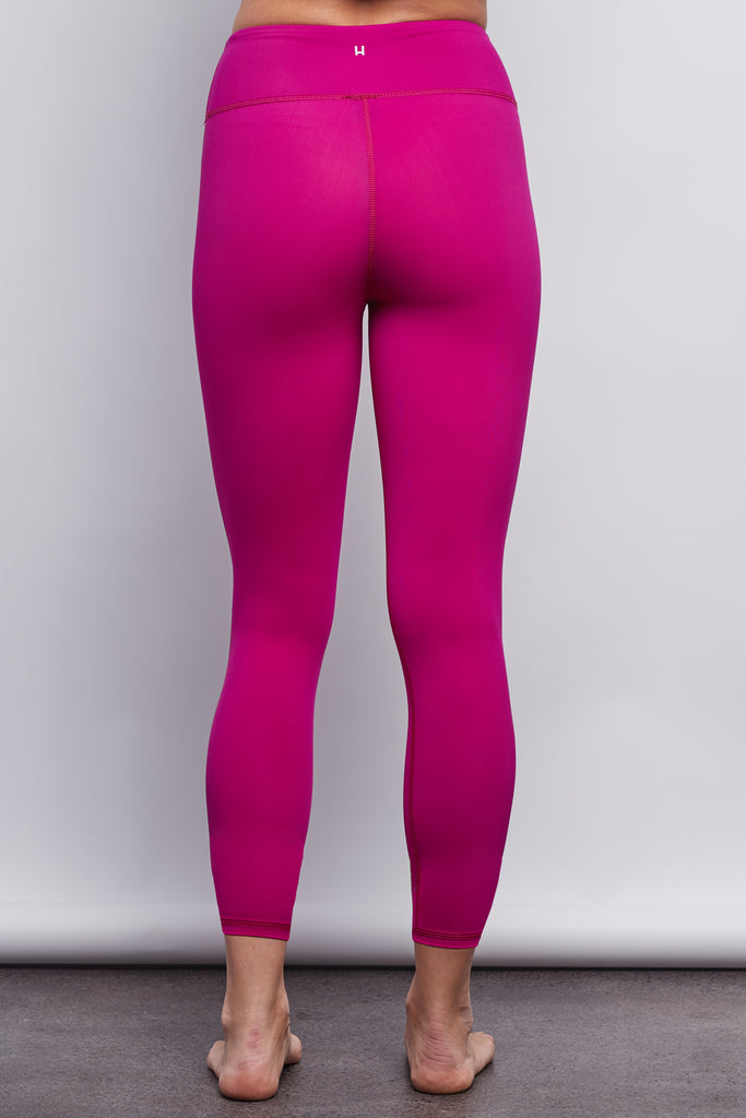 Hibiscus Pink Sculpt 7/8 Legging - Haven Collective