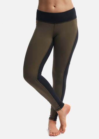 Moss/Black Two-Tone Legging - Haven Collective