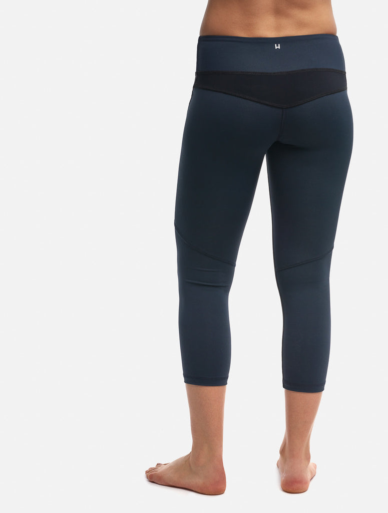 Black/Navy Two-Tone Crop Legging