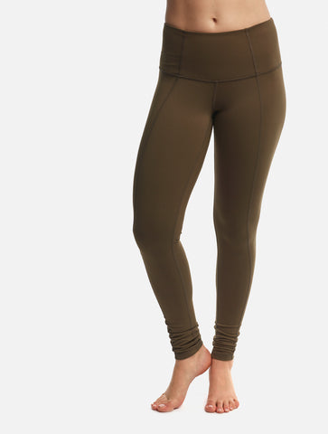 Olive Contour Full Length and Crop Leggings [Summer Set]