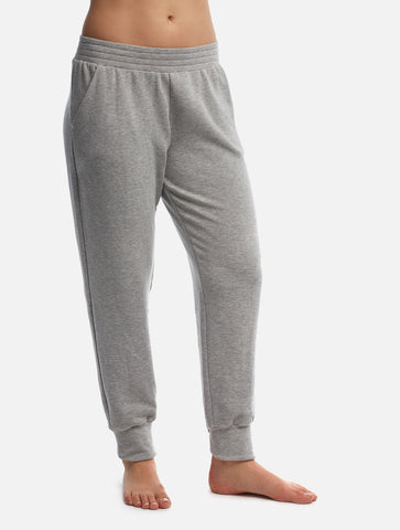 Heather Grey Boyfriend Pant [French Terry Fleece]