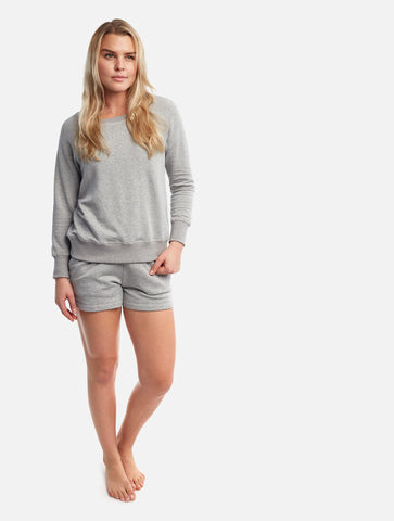 Heather Grey Boyfriend Shorts [French Terry Fleece]
