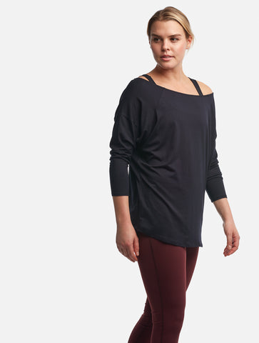 Black Asymmetric [Soft Rayon]