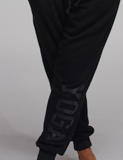 MEN'S YOGA SWEATPANTS BLACK ON BLACK - Haven Collective