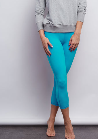 St. Lucia Blue Sculpt Crop Legging
