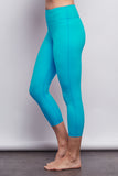 St. Lucia Blue Sculpt Crop Legging - Haven Collective