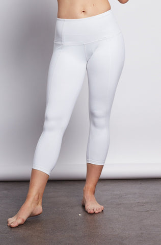 White Contour Crop Legging - Haven Collective