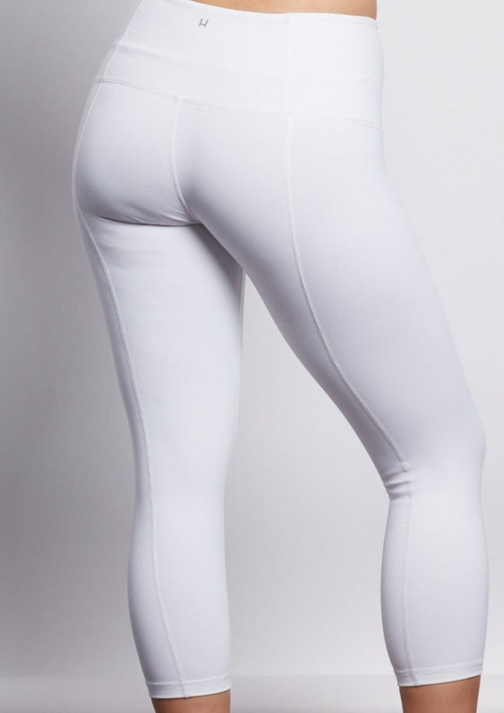 White Contour Crop Legging
