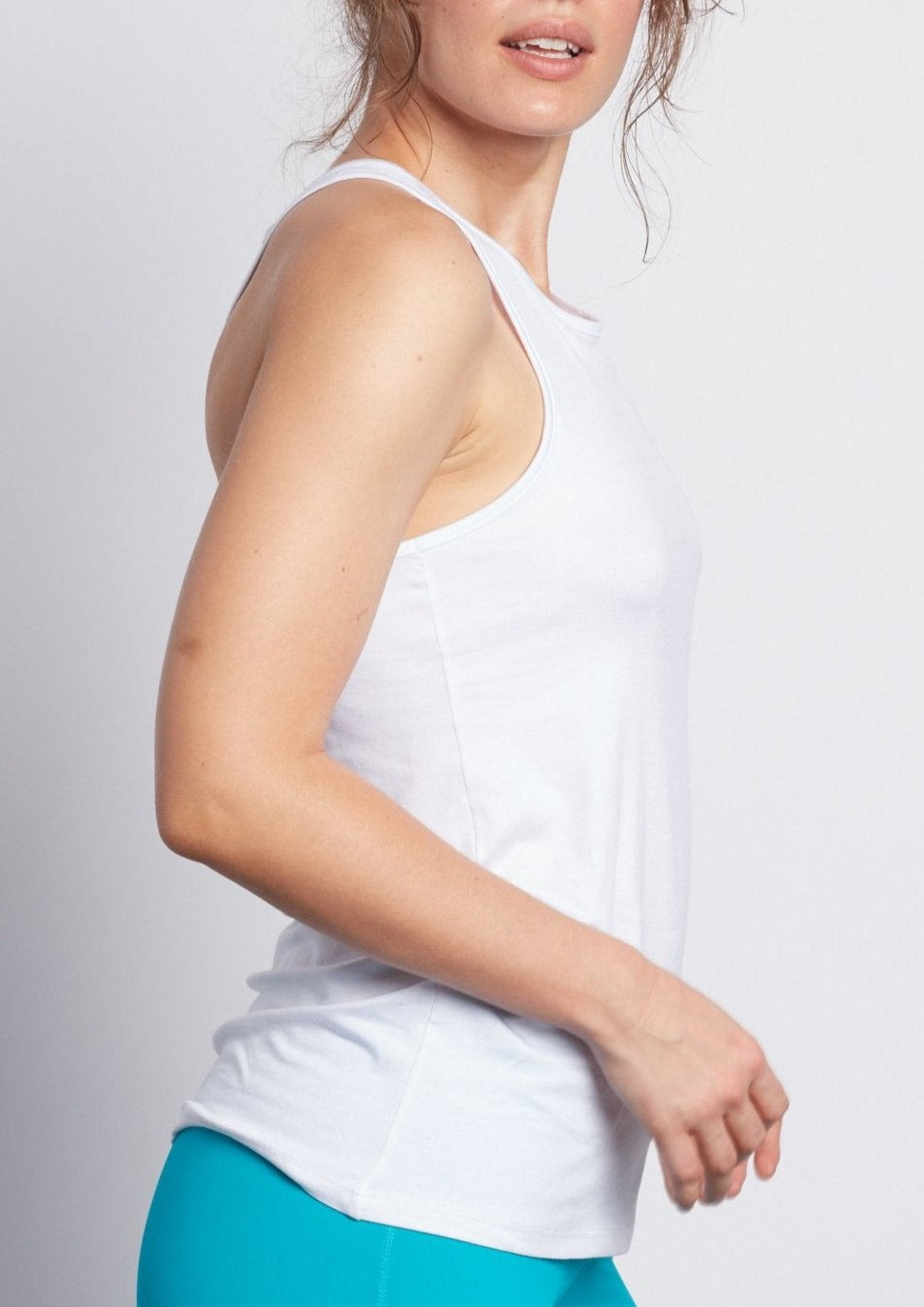 Sparkle LOTUS White Racerback Tank - Haven Collective