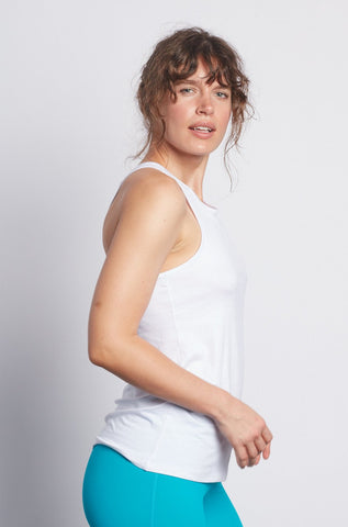 White Racerback Tank - Haven Collective